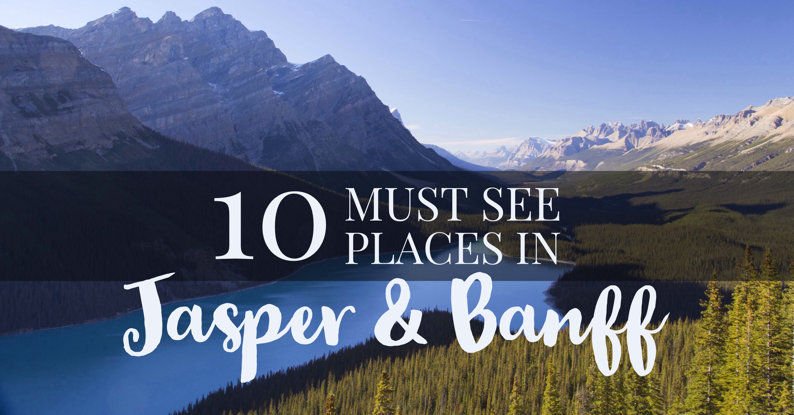 10 Places You Must Stop Between Jasper And Banff Alberta