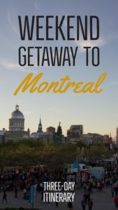 Montreal is a perfect place to escape for the weekend. To get the most from a weekend trip, use this three-day Montreal itinerary   My Wandering Voyage travel blog