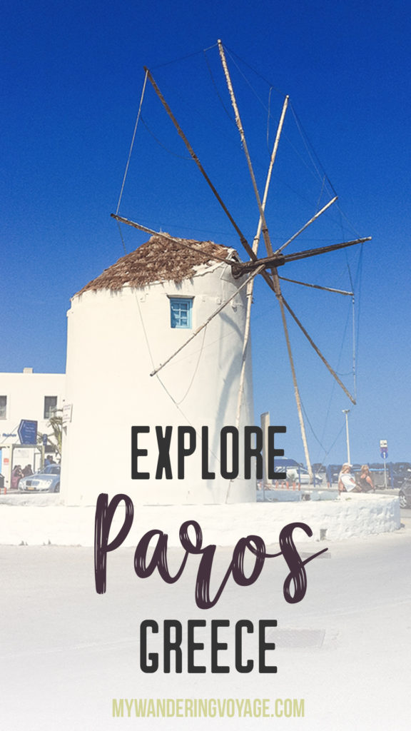 Paros, Greece, the island of my dreams | Paros is a relaxing getaway in the Greek Islands. Check out the beautiful town of Parikia, grab gelato, relax on one of its many beaches and enjoy the laid-back island vibe. | My Wandering Voyage travel blog #paros #greece #greekislands #travel
