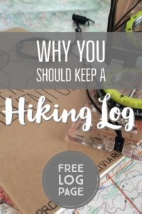 Use a hiking log for your next hike to record what you see on your adventures. Download a free hiking log page to get you started. | My Wandering Voyage Travel Blog #hiking #outdooradventure #hikinglog #travel