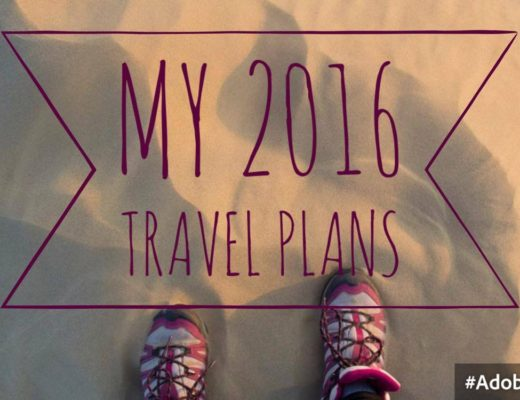 my 2016 travel plans to