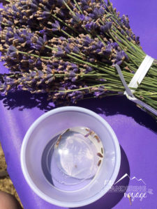 Lavender festival raindrop cake