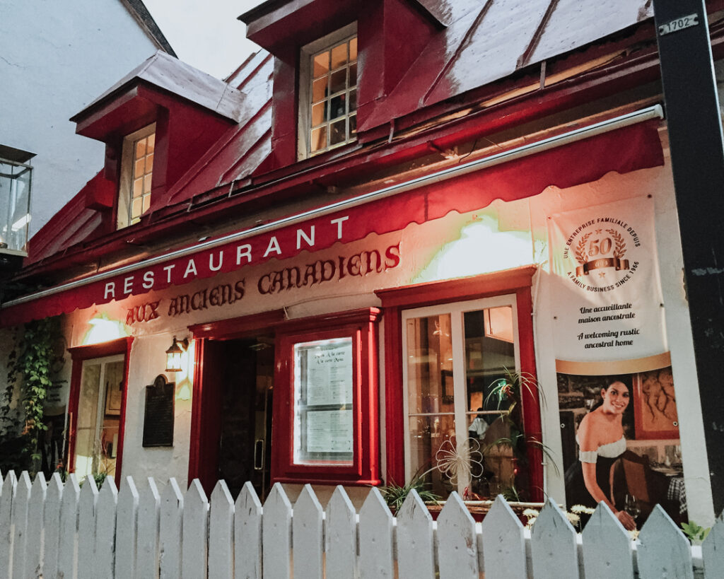 Aux Anciens Canadiens   Weekend Itinerary: Best Things to do in Quebec City   My Wandering Voyage travel blog #Quebec #QuebecCity #Canada #Travel