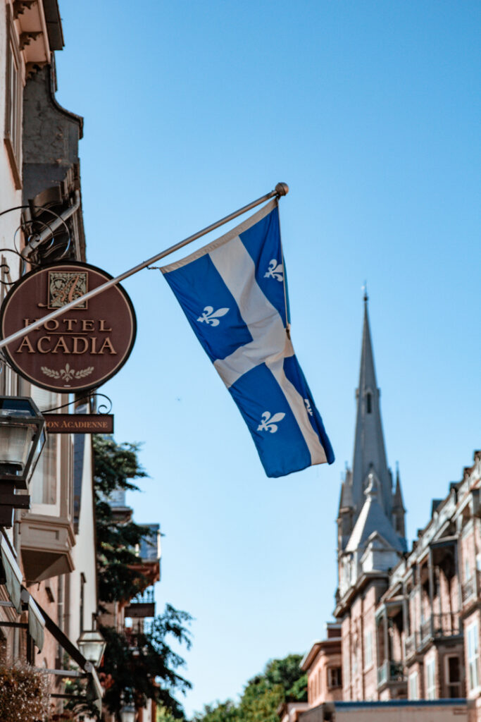Quebec Flag   Weekend Itinerary: Best Things to do in Quebec City   My Wandering Voyage travel blog  #Quebec #QuebecCity #Canada #Travel