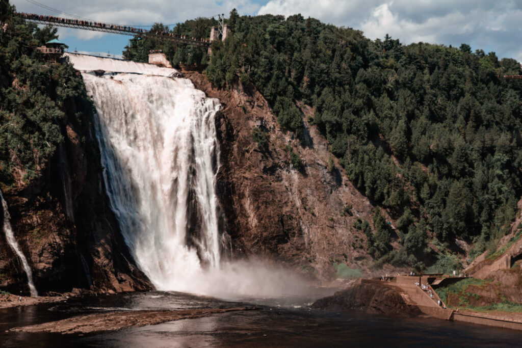 Montmorency Falls   Weekend Itinerary: Best Things to do in Quebec City   My Wandering Voyage travel blog #Quebec #QuebecCity #Canada #Travel