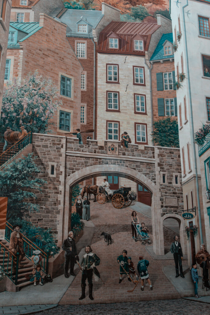 Quebec City Mural   Weekend Itinerary: Best Things to do in Quebec City   My Wandering Voyage travel blog #Quebec #QuebecCity #Canada #Travel