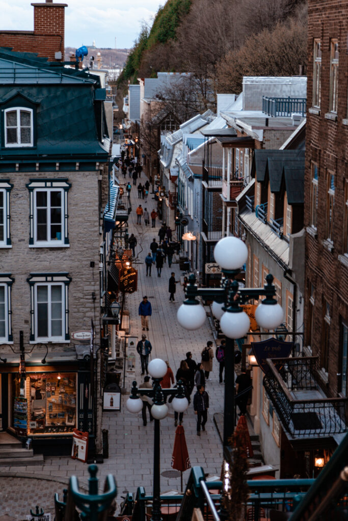 Petit Champlain Quarter   Weekend Itinerary: Best Things to do in Quebec City   My Wandering Voyage travel blog #Quebec #QuebecCity #Canada #Travel