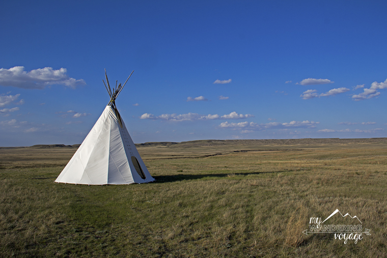 Tipi at Grasslands National Park Saskatchewan