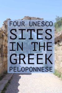 UNESCO Greek Peloponnese | Visit these ancient Greek sites located on the Greek Peloponnese peninsula | My Wandering Voyage #travel blog #Greece #UNESCO