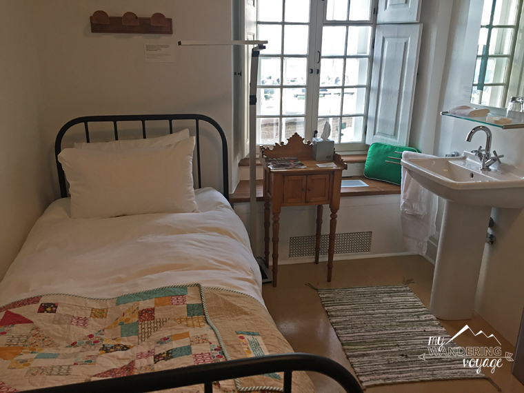 Authentic room at Le Monestere des Augustines monastery | My Wandering Voyage travel blog