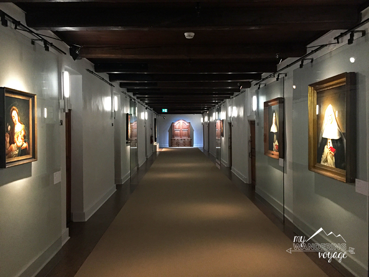 hallway at Le Monastere des Augustines monastery Quebec | My Wandering Voyage travel blog