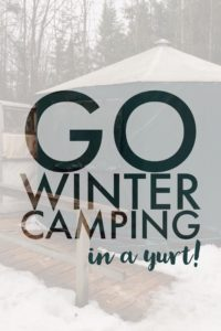 Go winter camping