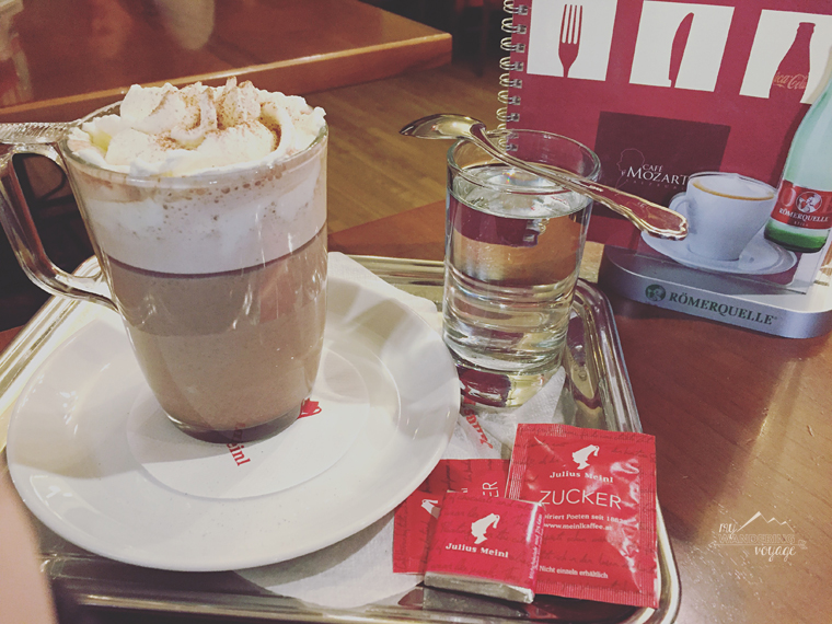 Hot chocolate from Cafe Mozart in Salzburg, Austria | My Wandering Voyage Travel Blog
