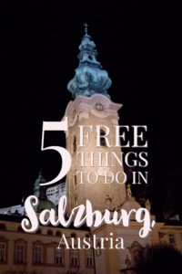 five free things to do in Salzburg, Austria night | My Wandering Voyage travel blog