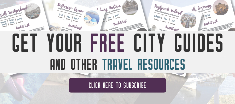 Get your FREE city guides | My Wandering Voyage travel blog