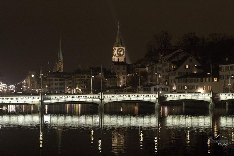 At night in Zurich, Switzerland | My Wandering Voyage travel blog