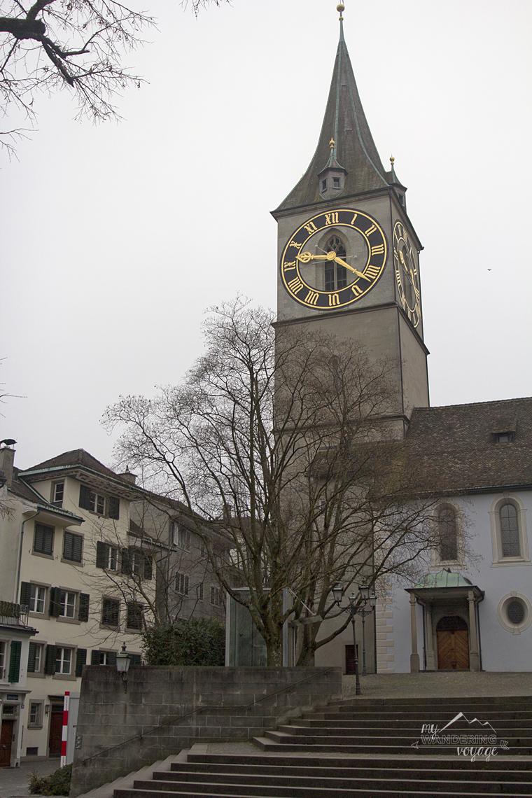 St Peter's Church Zurich, Switzerland | My Wandering Voyage travel blog
