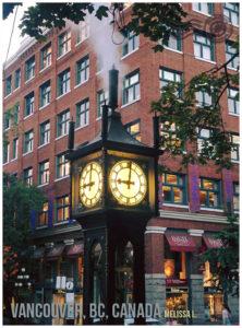 Vancouver Steam Clock, BC, Canada - wandering postcard | My Wandering Voyage travel blog