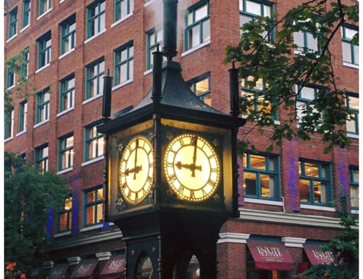 Vancouver Steam Clock, BC, Canada - wandering postcard | My Wandering Voyage travel blog