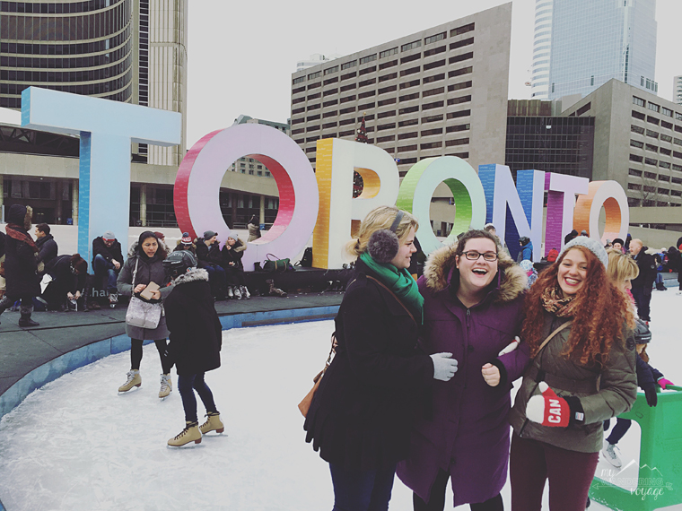 Skating at Nathan Phillips Square, Toronto - Top ten things to do in Toronto for first timers | My Wandering Voyage travel blog