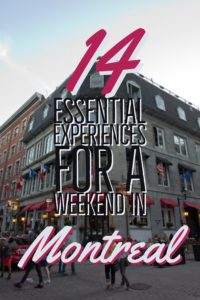 From enjoying the local eats to seeing the sights, Montreal has lots to offer for your next weekend vacation - 14 essential experiences for a weekend in Montreal | My Wandering Voyage travel blog