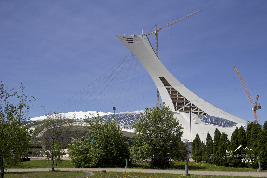 Olympic Stadium in Montreal - 14 essential experiences for a weekend in Montreal, Quebec, Canada | My Wandering Voyage travel blog