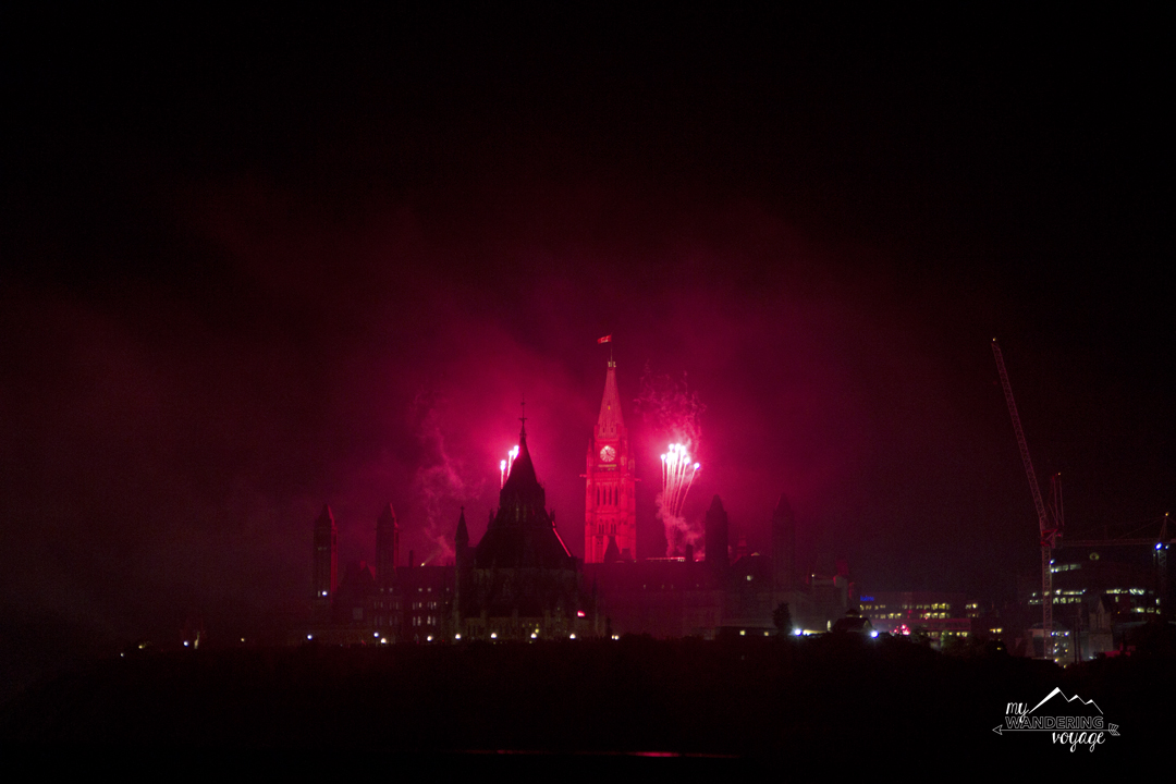 End Canada Day with a bang by watching the fantastic fireworks show at Parliament Hill in Ottawa | My Wandering Voyage travel blog