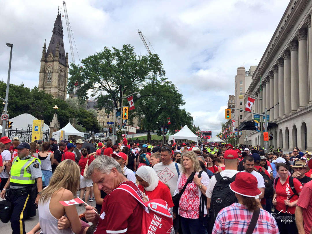 Lots of people attended the Canada Day celebrations in Ottawa for Canada 150 | My Wandering Voyage travel blog