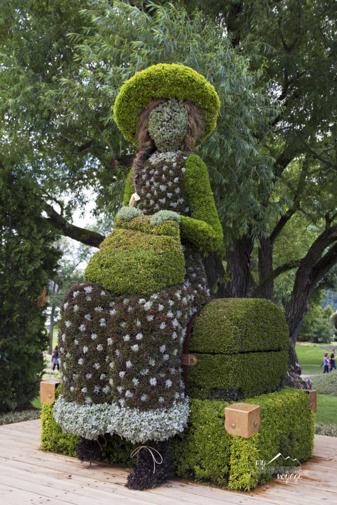 Check out the beautiful living sculptures at the MosaiCanada150 exhibit at Jacques-Cartier Park in Gatineau, Quebec | My Wandering Voyage travel blog