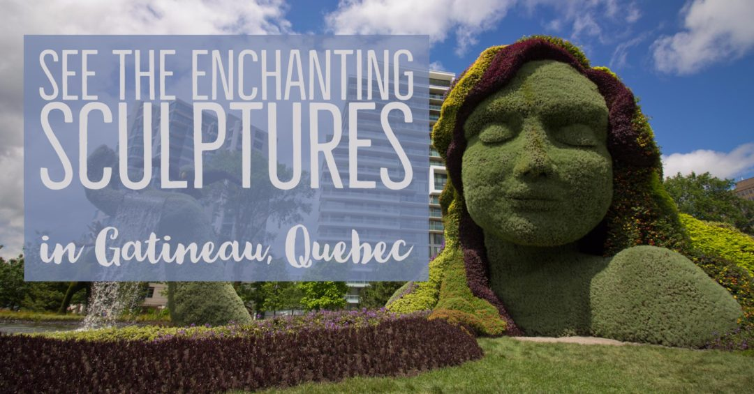 Check out the beautiful living sculptures at the MosaiCanada150 exhibit at Jacques-Cartier Park in Gatineau, Quebec before it disappears! | My Wandering Voyage travel blog
