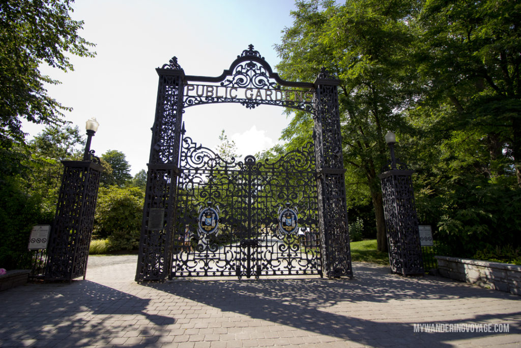 Halifax Public Gardens - From its delicious eats, historic buildings and magnificent waterfront, there is much to do in Halifax. Bring your walking shoes and a camera, because you're going to want to capture the beauty of this city on the Atlantic Ocean | My Wandering Voyage travel blog