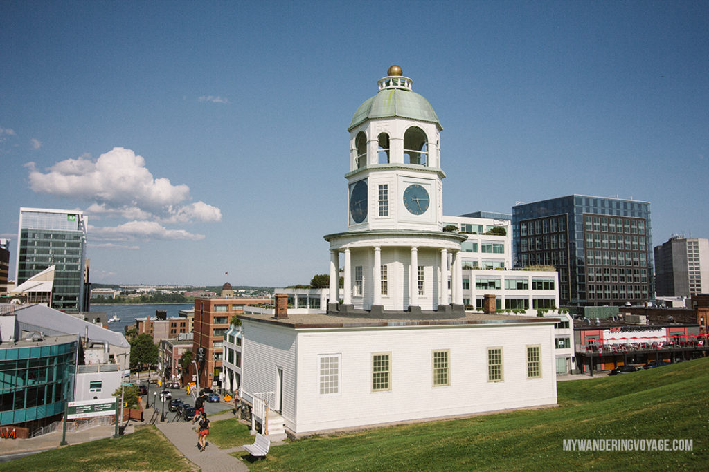 Halifax Town Clock - From its delicious eats, historic buildings and magnificent waterfront, there is much to do in Halifax. Bring your walking shoes and a camera, because you're going to want to capture the beauty of this city on the Atlantic Ocean | My Wandering Voyage travel blog