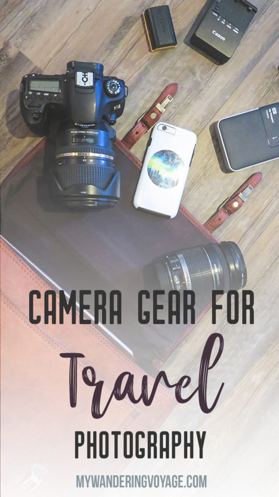 Camera gear for travel photography – Capturing beautiful landscapes or fleeting moments in time, a camera is the best thing you can pack on your travels. Here are some ideas for camera gear to pack on your next trip. | My Wandering Voyage travel blog