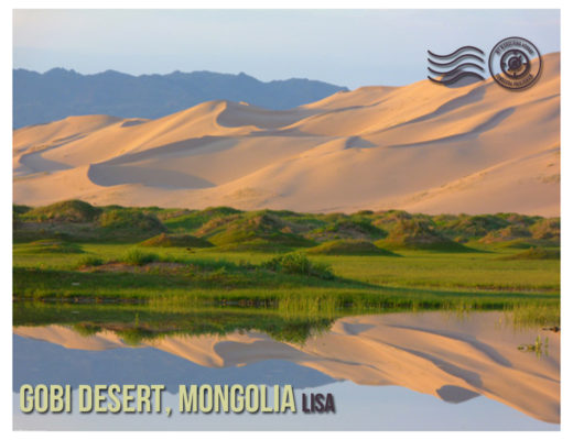 Gobi Desert, Mongolia - Wandering postcard - postcards from around the world |My Wandering Voyage travel blog