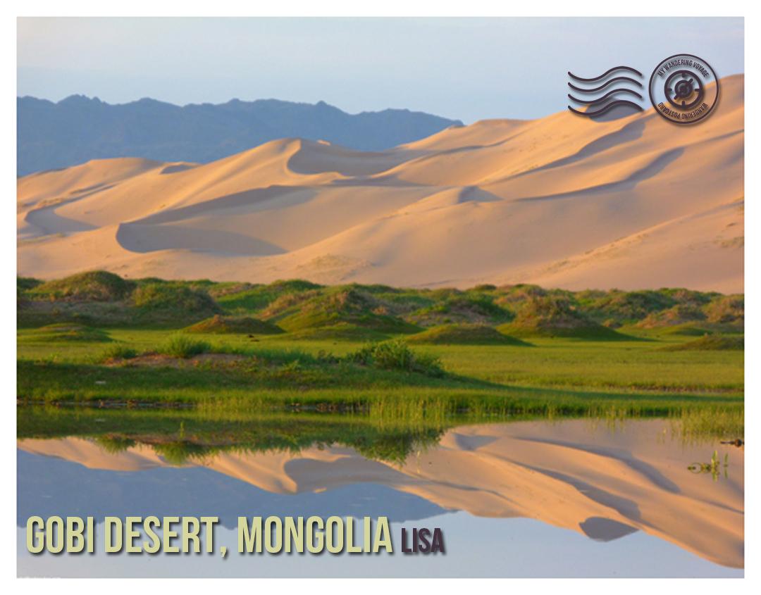 Gobi Desert, Mongolia - Wandering postcard - postcards from around the world |My Wandering Voyage travel blog