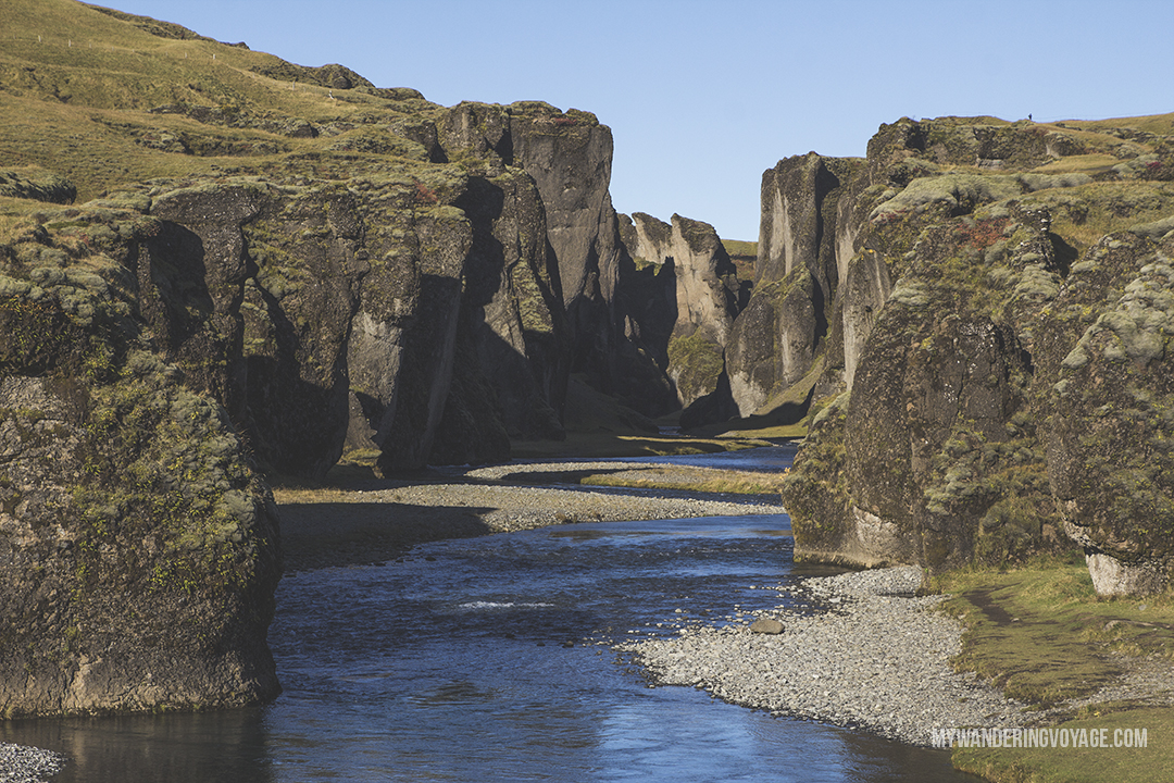 Fjadrargljufur canyon - Don't leave Iceland without going to these eight stops along Iceland's South Shore | My Wandering Voyage travel blog