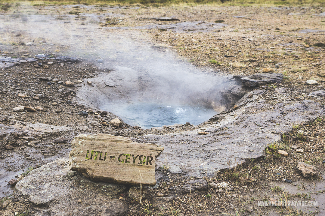 Litli-Geysir - The Golden Circle is a well-known destination in Iceland, and it's easy to see why. The Golden Circle is part of a road loop that can be seen in a day from Reykjavik and hits some of Iceland's most famous landmarks | My Wandering Voyage travel blog