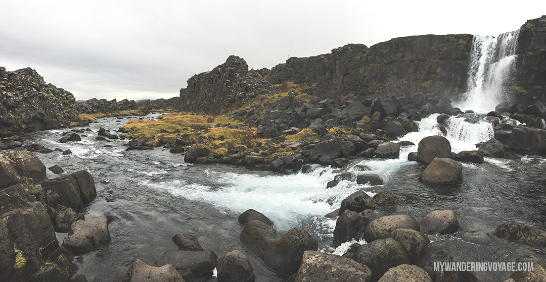 Öxarárfoss - The Golden Circle is a well-known destination in Iceland, and it's easy to see why. The Golden Circle is part of a road loop that can be seen in a day from Reykjavik and hits some of Iceland's most famous landmarks | My Wandering Voyage travel blog