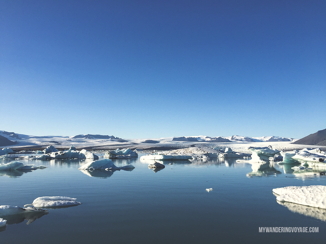 Jokulsarlon glacier lagoon - Don't leave Iceland without going to these eight stops along Iceland's South Shore | My Wandering Voyage travel blog