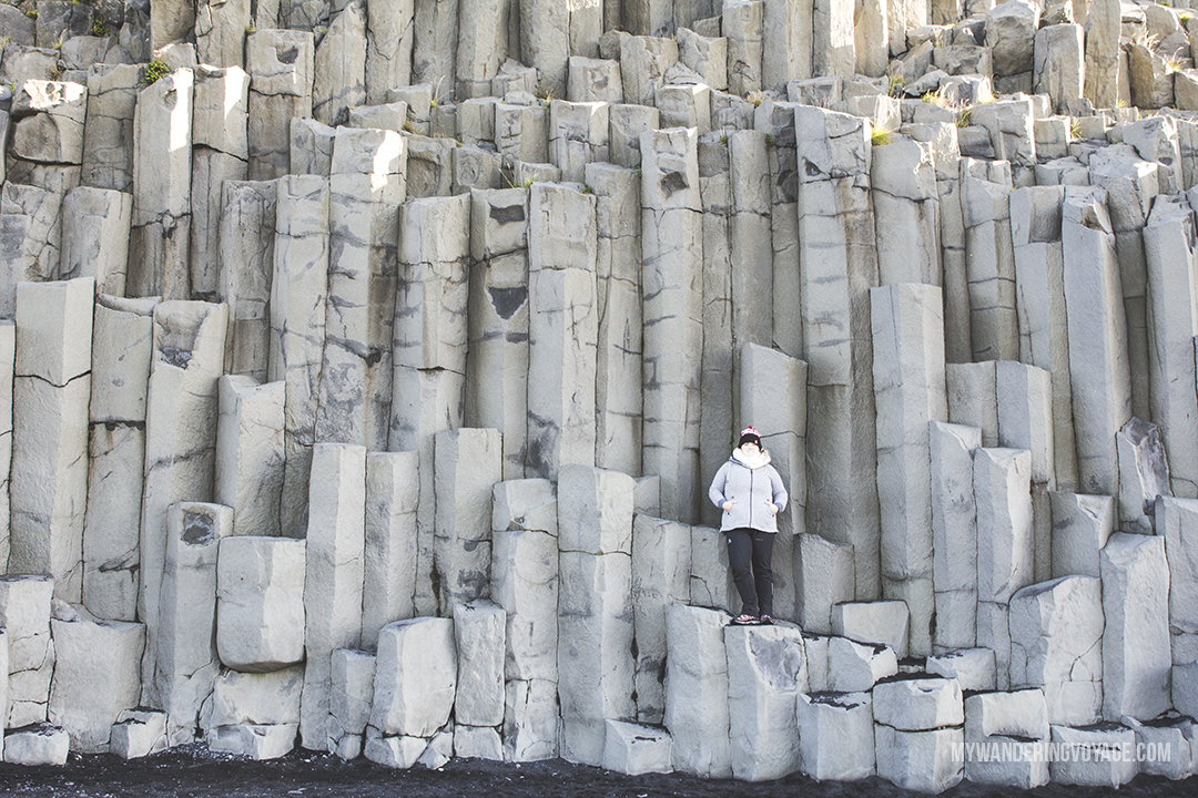 Basalt columns at Reynisfjara beach - Don't leave Iceland without going to these eight stops along Iceland's South Shore | My Wandering Voyage travel blog