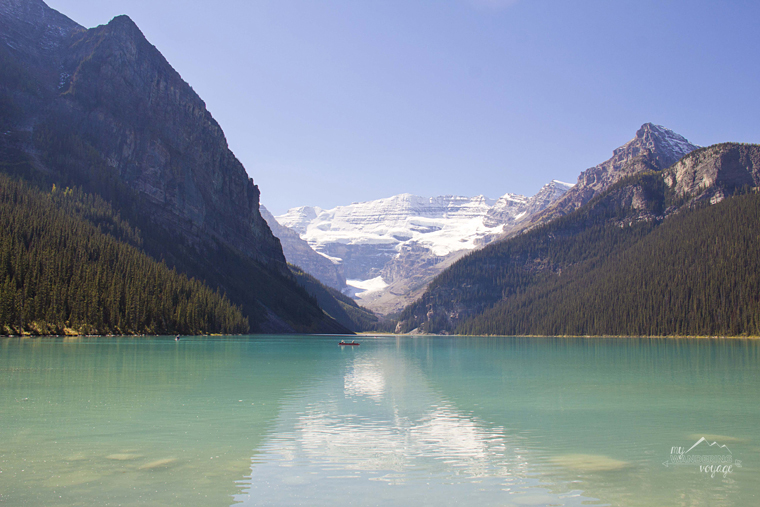 Lake Louise - Icefields Parkway | There's no better way to explore Canada than by car. Take one of these epic road trips in Canada. Drive scenic routes and find the best stops along the way | My Wandering Voyage travel blog