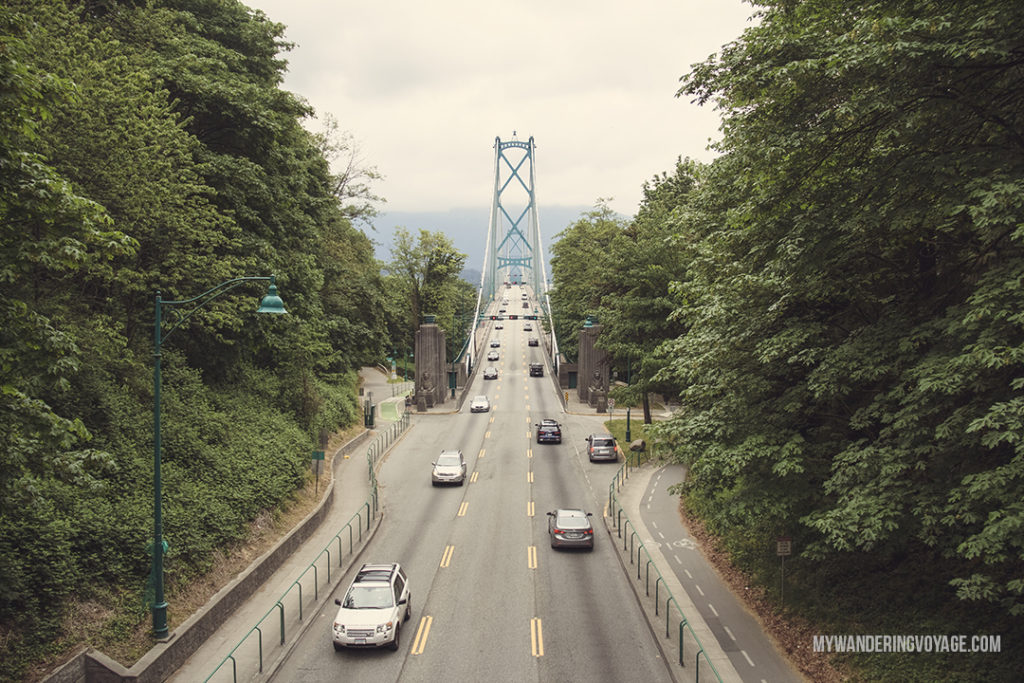 Vancouver's Lions Gate Bridge | Get out and explore Beautiful British Columbia. From the coastal rainforests to the summit of mountains to cities like Vancouver and Victoria, there is so much to discover in British Columbia. Here's everything you need to see in 10 days in British Columbia | My Wandering Voyage travel blog