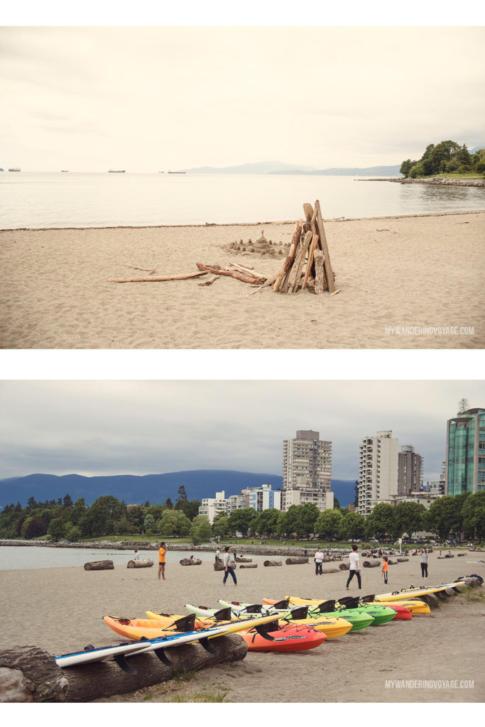 English Bay | From urban eats to nature walks, Vancouver, Canada's western metropolis, is ready for you to explore. Take in Stanley Park and get to know Vancouver's neighbourhoods with this two-day itinerary. | My Wandering Voyage #Vancouver #BritishColumbia #Canada #travel #itinerary #Canadatravel
