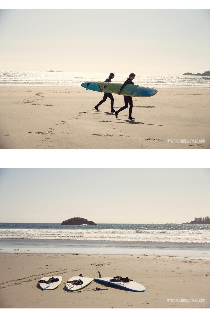 Surfing in Tofino | Explore the mighty and wild Tofino, British Columbia. This western coastal town on Vancouver Island is perfect for every adventurer. Try surfing or eat your way through town. #tofino #britishcolumbia #ExploreBC #exploreCanada