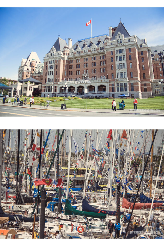 Fairmont Empress   Victoria, BC, located on Vancouver Island, is a regal city ready for exploring. So whether you stay for a day or a week, there's always something charming to do in Victoria, BC. #VictoriaBC #BritishColumbia #Canada #exploreCanada #exploreBC