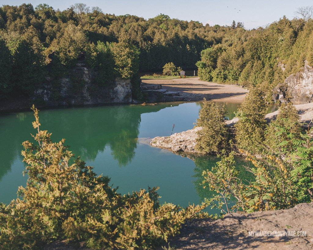 Elora Quarry | The ultimate list of things to do in Elora, Ontario. Visit Elora for its small town charm, natural beauty and one-of-a-kind shops and restaurants | My Wandering Voyage travel blog