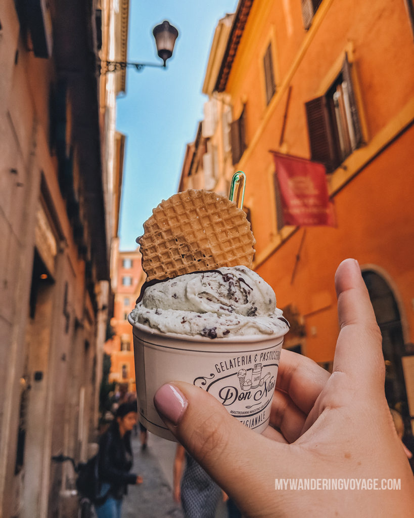 Gelato in Rome | With these 23 mistakes to avoid in Rome, Italy, you'll be a seasoned traveller before you even land in the airport. | My Wandering Voyage travel blog #Rome #traveltips #travel #Italy