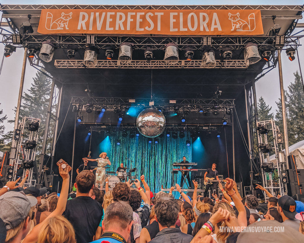 Carly Rae Jepsen at Riverfest Elora | The ultimate list of things to do in Elora, Ontario. Visit Elora for its small town charm, natural beauty and one-of-a-kind shops and restaurants | My Wandering Voyage travel blog