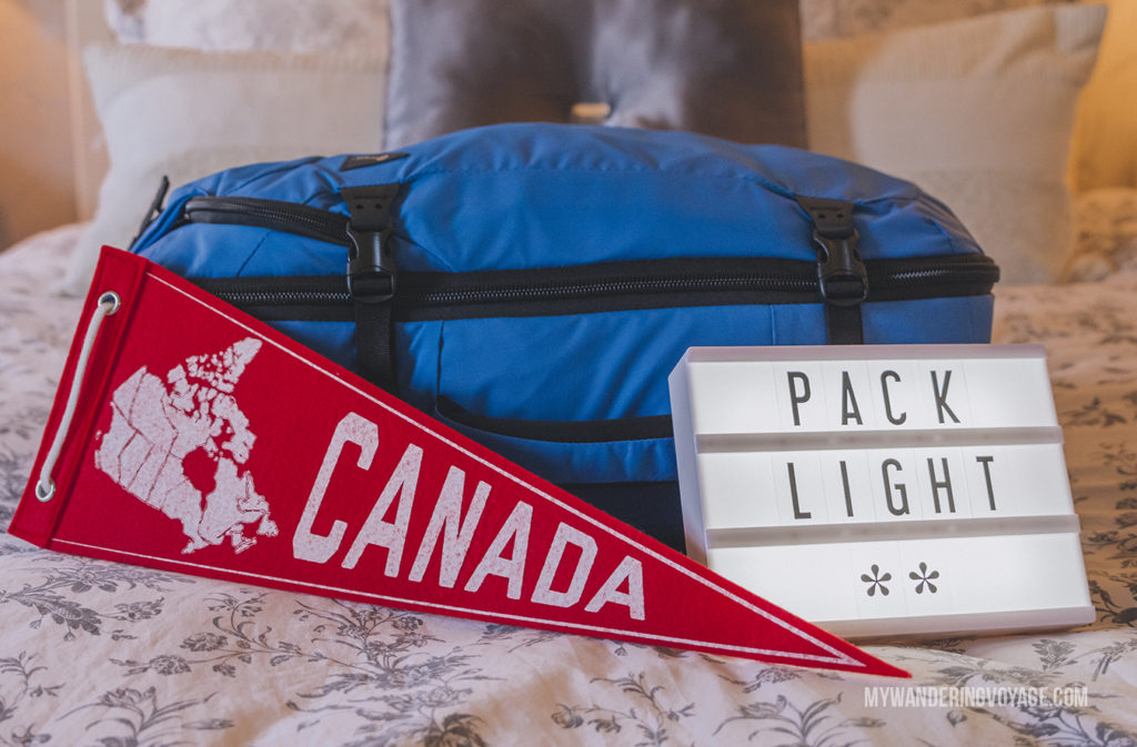Pack Light | In Canada, summer temperatures range from coast to coast to coast. It can be hard to know what to pack for Canada in summer. This guide will help. #packingguide #packinglist #summertravel #travel #Canada