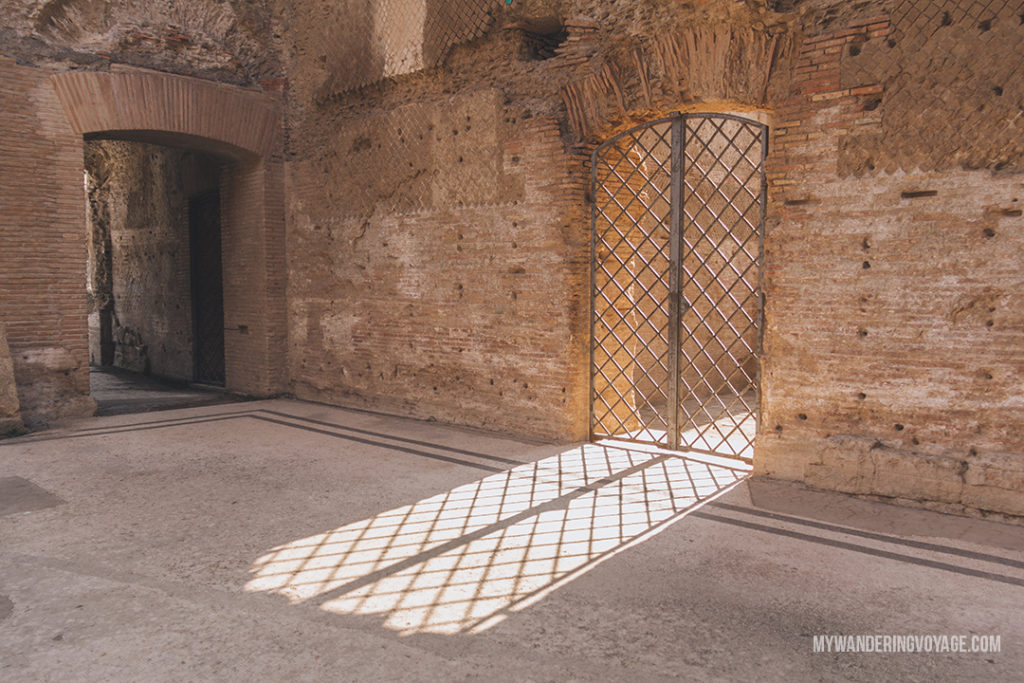 Villa Adriana sunlight | Visit UNESCO World Heritage Sites Villa Adriana and Villa d'Este in a day trip to Tivoli, Italy, a mountainside town about 30 kilometres from Rome. | My Wandering Voyage travel blog #rome #italy #travel #UNESCO